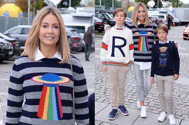 """Fani wytykają Rozenek, że stroi synów w sweterki Ralpha Laurena. Ona na to: """"O przepraszam, Staś był w Gucci!"""""""