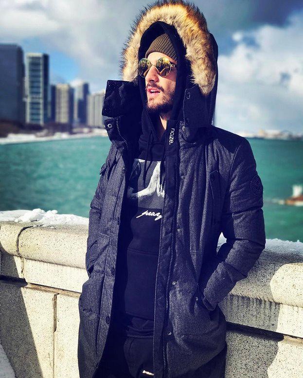 Długa zimowa kurtka męska - wybór gwiazd