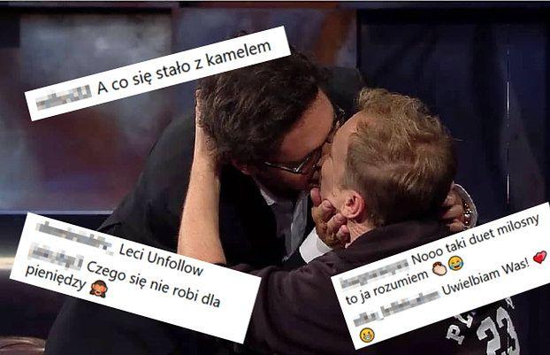 """Skrajne komentarze po pocałunku Wojewódzkiego i Stuhra. """"TYM ZDJĘCIEM PLOTEK NIE UCISZYSZ"""""""