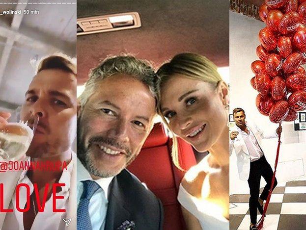 """Ślub Joanny Krupy. Woliński pokazuje zdjęcia z uroczystości i mówi: """"Dziś nie mogę wrzucać zdjęć"""""""