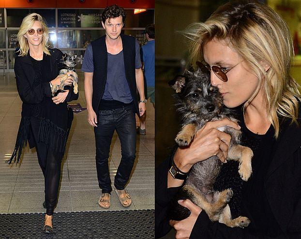 Anja przyleciała do Polski... z mężem i psem (ZDJĘCIA)