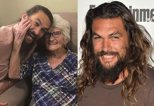 """Jason Momoa pokazał urocze zdjęcia z wizyty u babci. """"Kocham Cię na zawsze!"""""""