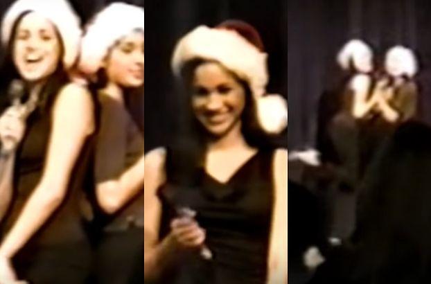 Nastoletnia Meghan Markle śpiewa piosenkę i robi zalotne pozy na świątecznej imprezie w liceum (WIDEO)