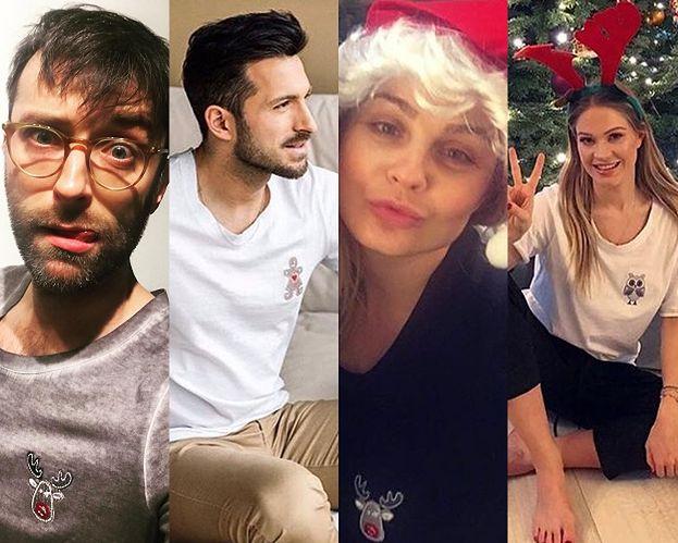 Gwiazdy noszą świąteczne t-shirty od Jemioła