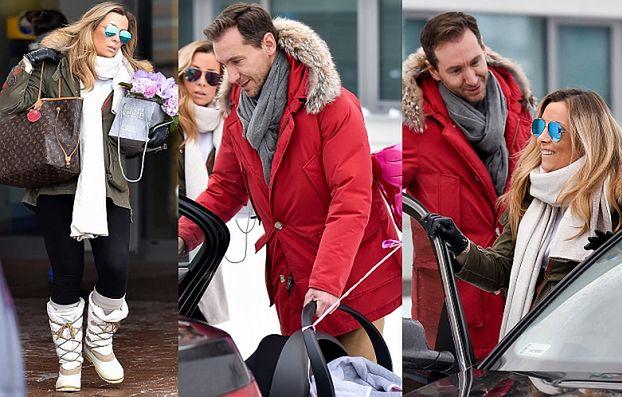Kraśko i Ferenstein wychodzą z córką ze szpitala (ZDJĘCIA)