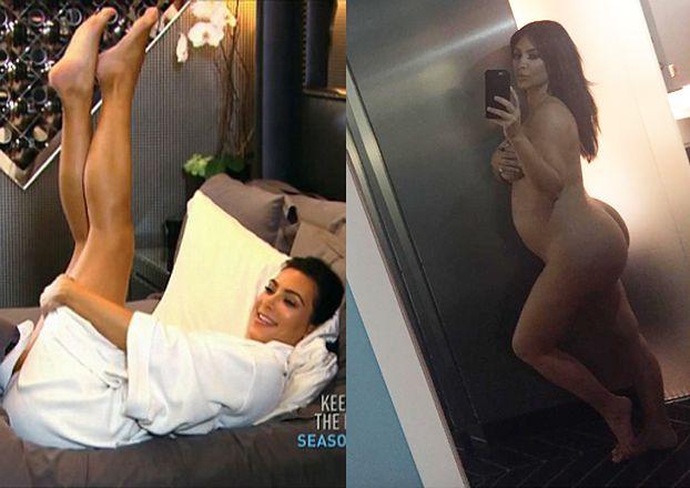 """Ciężarna Kim pokazała nagie """"selfie""""! (FOTO)"""