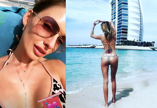 """Dominika Grosicka w Dubaju chwali się ciałem w bikini. Kamil: """"SEXYBOMBA"""""""