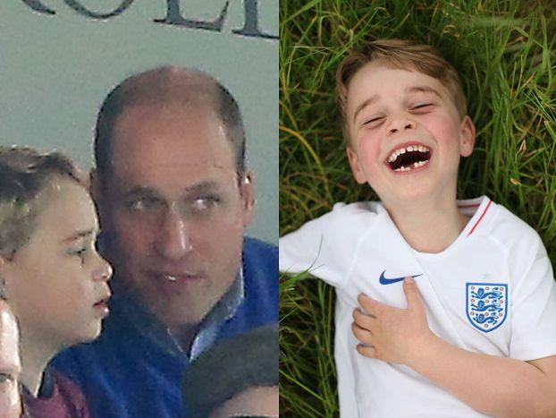 Przejęty książę George po raz pierwszy ogląda z trybun mecz. Uroczy widok? (ZDJĘCIA)