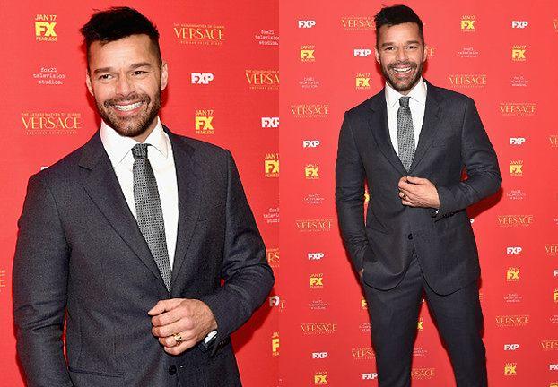 Przystojny Ricky Martin na premierze serialu o zabójstwie Gianniego Versace (ZDJĘCIA)