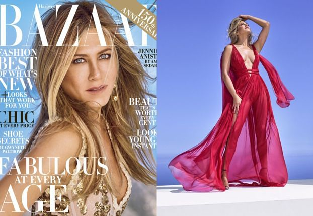 "48-letnia Jennifer Aniston na okładce ""Harper's Bazaar"""