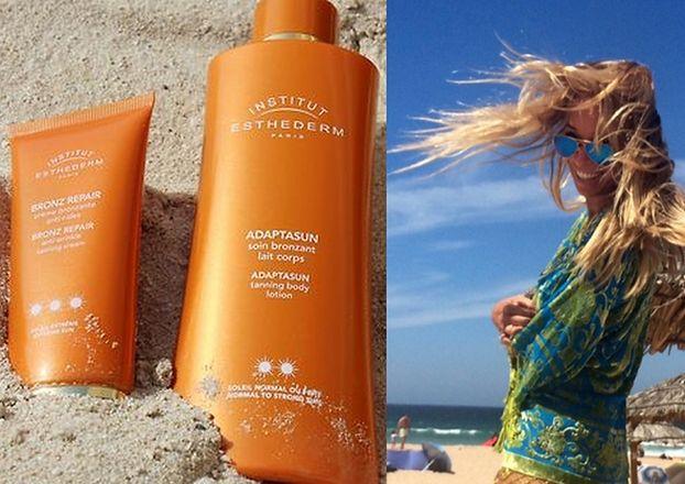 Przetakiewicz na wakacjach reklamuje luksusowe kosmetyk...