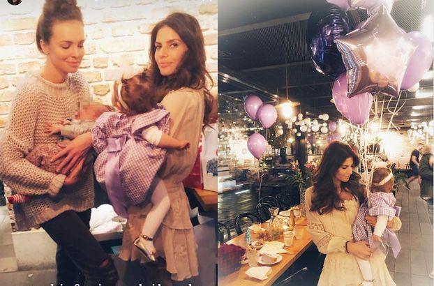 Anna Wendzikowska bawi się z dzieckiem na pierwszych urodzinach córki Rosati (FOTO)