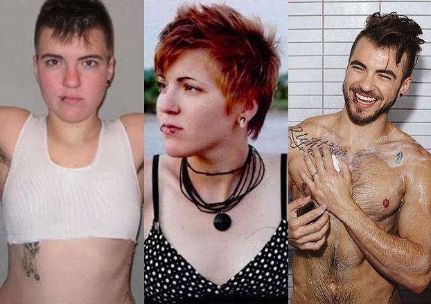Transseksualny model pokazał, jak wyglądał jako kobieta (ZDJĘCIA)