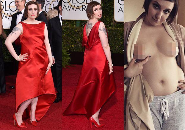 "Lena Dunham też ""UWALNIA SUTKI""... (FOTO)"