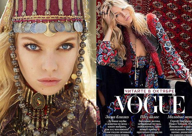 """Dziewczyna Miley Cyrus w """"Vogue Russia"""" (FOTO)"""
