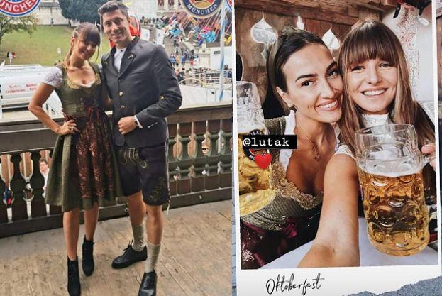 Ania i Robert Lewandowscy świętują Oktoberfest. Robert paradował w SKÓRZANYCH SZORTACH