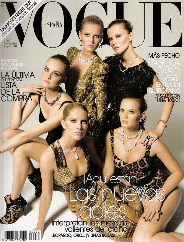 "Kasia Struss na okładce ""Vogue'a"""