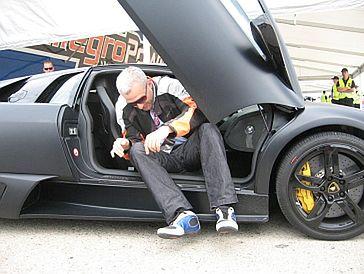 Urbański w Lamborghini