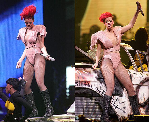 Rihanna szaleje na koncercie