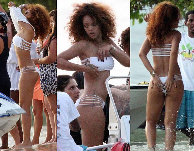 Seksowna Rihanna na plaży (ZDJĘCIA)