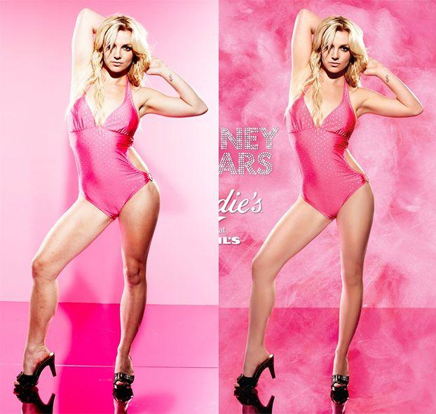 Britney PRZED I PO RETUSZU!