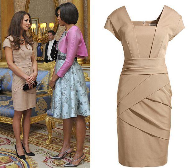 Middleton na spotkaniu z Obamą w sukience za 175 funtów (ZDJĘCIA)