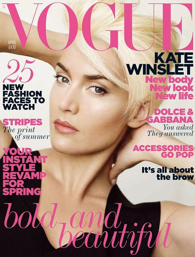 Kate Winslet w platynowym blondzie!