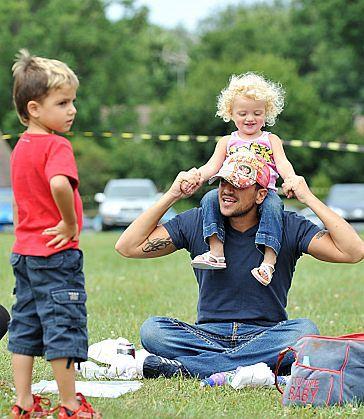 Peter Andre z dziećmi