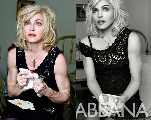 Ręce Madonny bez retuszu!