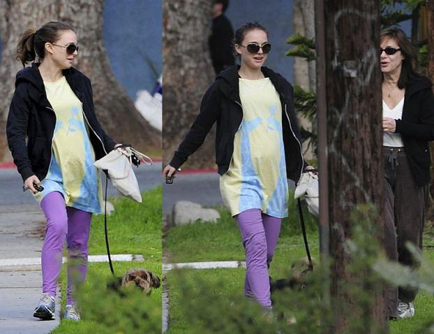 Śliczna Natalie Portman na spacerze (WIDAĆ BRZUSZEK!)