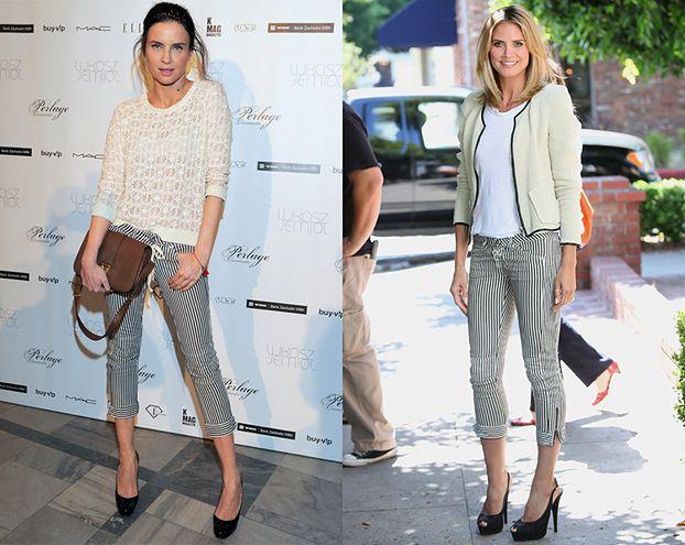 Horodyńska i Klum w identycznych spodniach