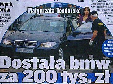Teodorska i jej nowe BMW