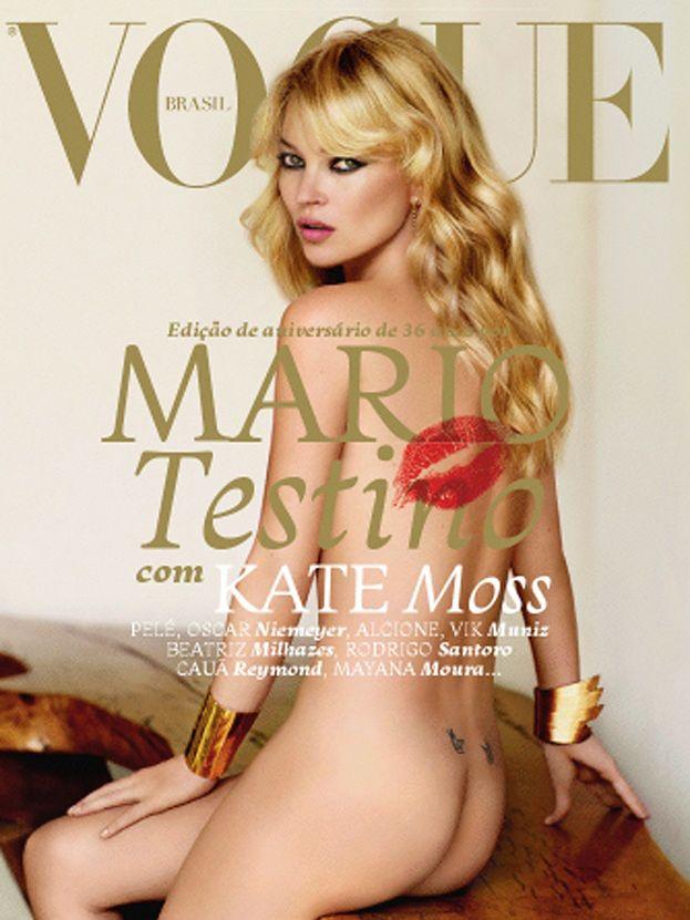 """Naga Kate Moss na okładce """"Vogue'a""""! (FOTO)"""