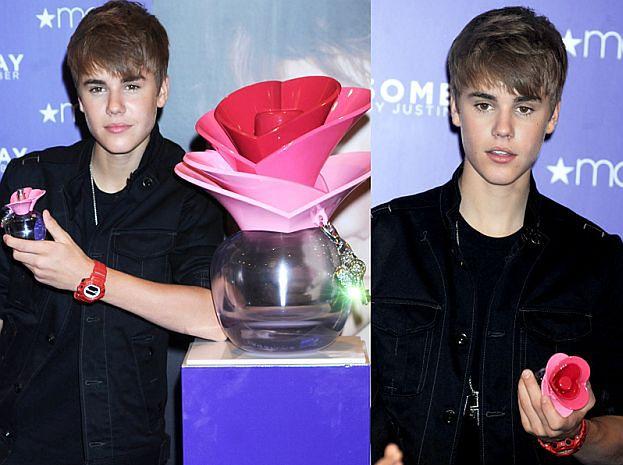 Bieber promuje swoje perfumy...