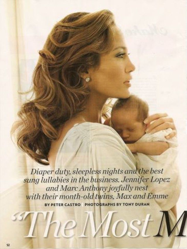 Zdjęcia bliźniąt Jennifer Lopez