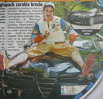 Koterski kupił auto za 200 tysięcy