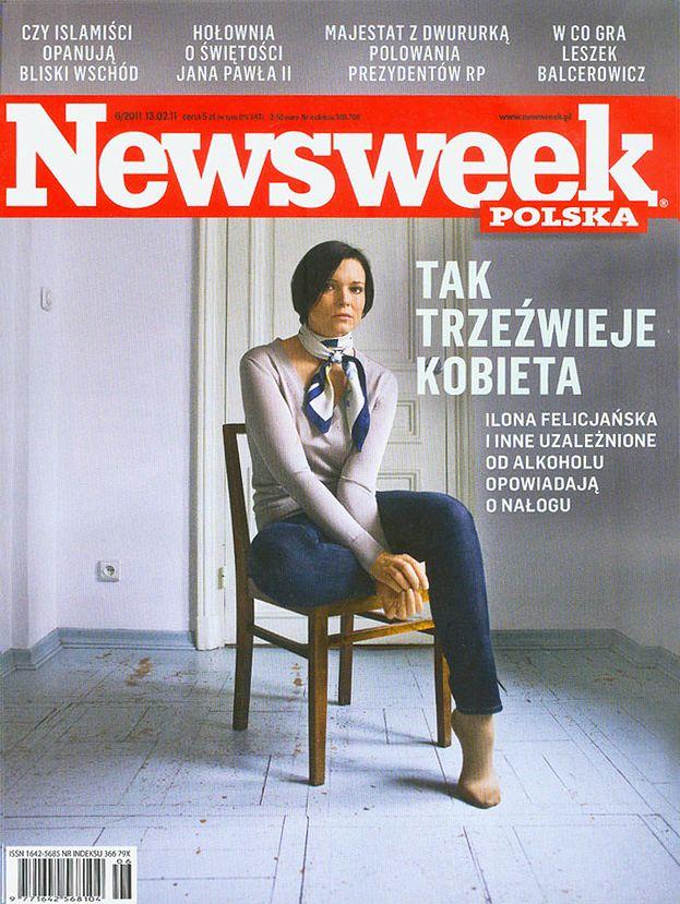 """Felicjańska trzeźwieje na okładce """"Newsweeka""""..."""