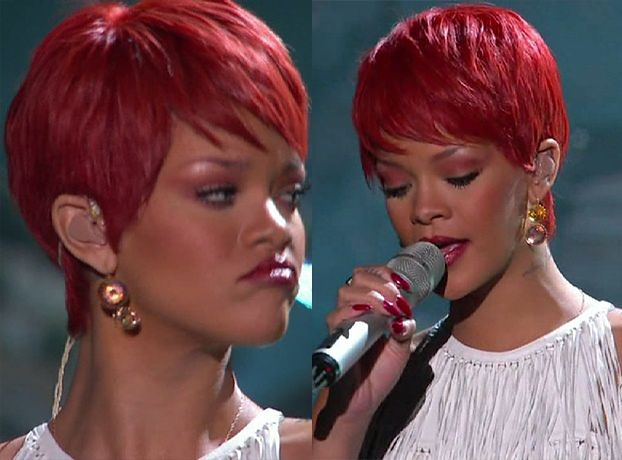 Rihanna znowu w krótkich włosach! (Peruka?)