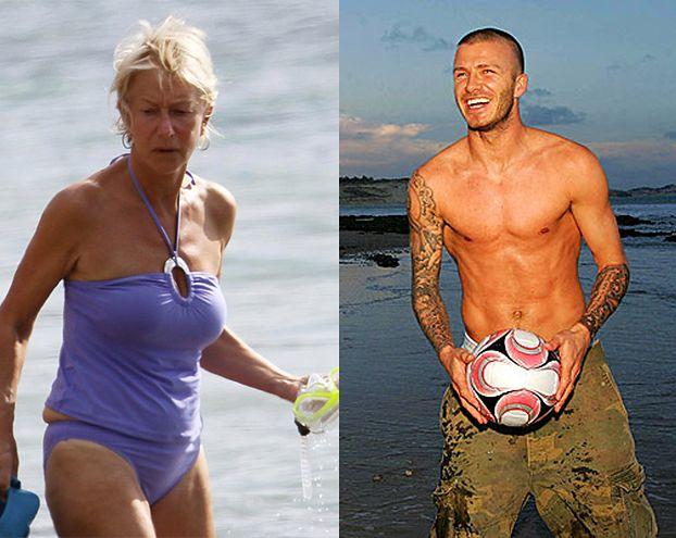 Beckham i Mirren mają najseksowniejsze ciała!