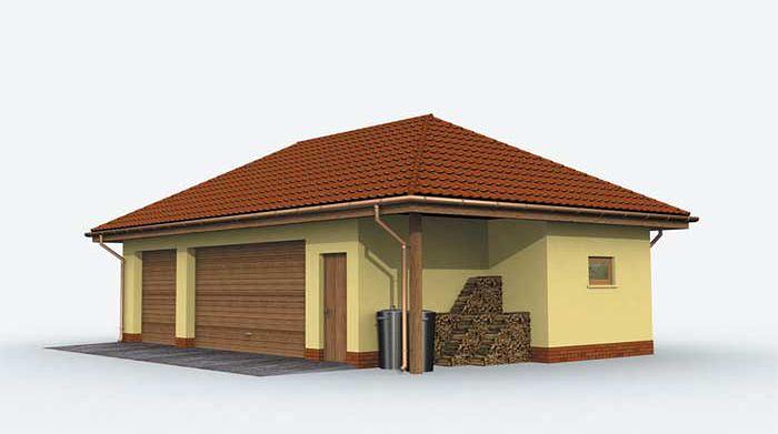 Zdjęcie 1 projektu G157 garaż trzystanowiskowy SLN1252