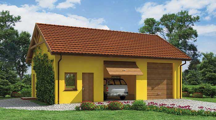 Zdjęcie 1 projektu G197 garaż dwustanowiskowy z pomieszczeniami gospodarczymi SLN1333