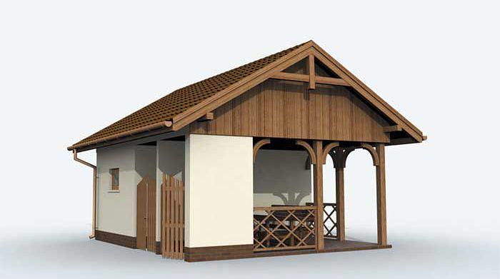 Zdjęcie 1 projektu G150 budynek gospodarczy SLN1213