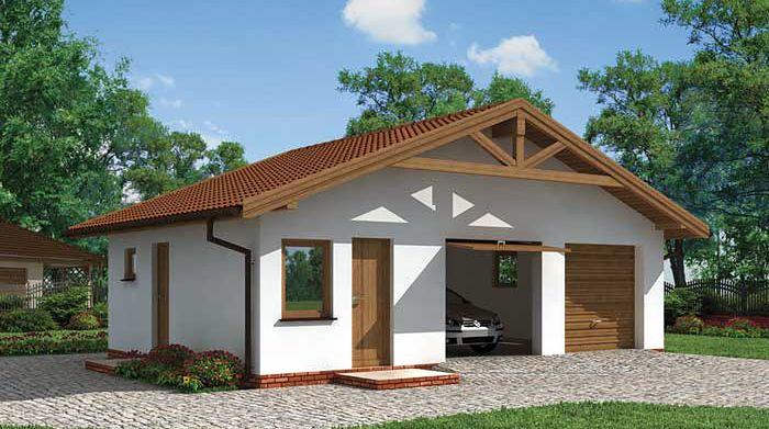 Zdjęcie 1 projektu G3 garaż dwustanowiskowy z pomieszczeniami gospodarczymi SLN1104