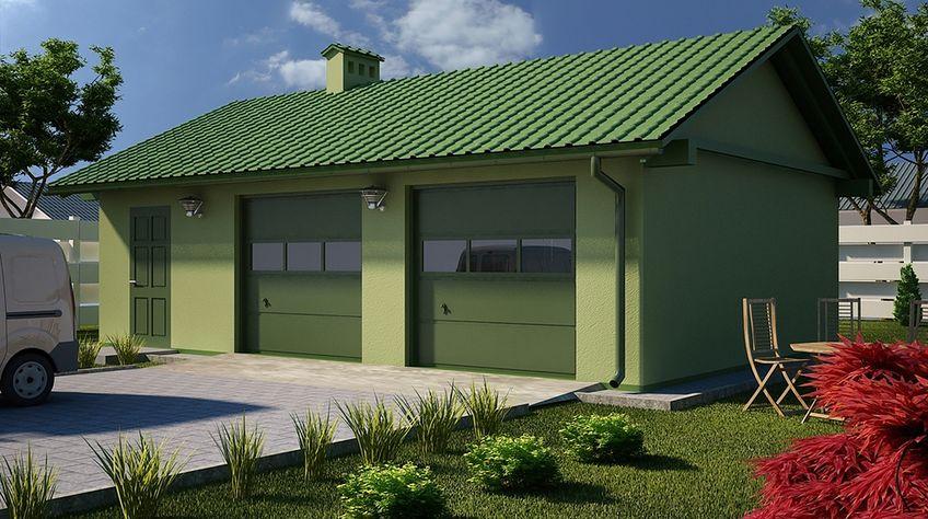 Zdjęcie 1 projektu G28 - Budynek garażowo - gospodarczy PRA1027