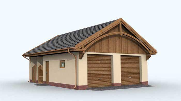 Zdjęcie 1 projektu G133 budynek gospodarczy SLN1907