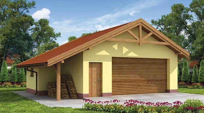 Zdjęcie 1 projektu G58 budynek gospodarczy SLN1832