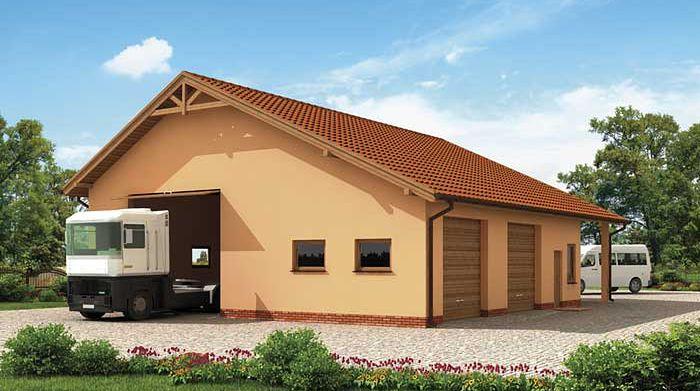 Zdjęcie 1 projektu G226 budynek gospodarczy SLN2005