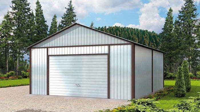 Zdjęcie 1 projektu GB20 Garaż blaszany dwustanowiskowy SLN1604