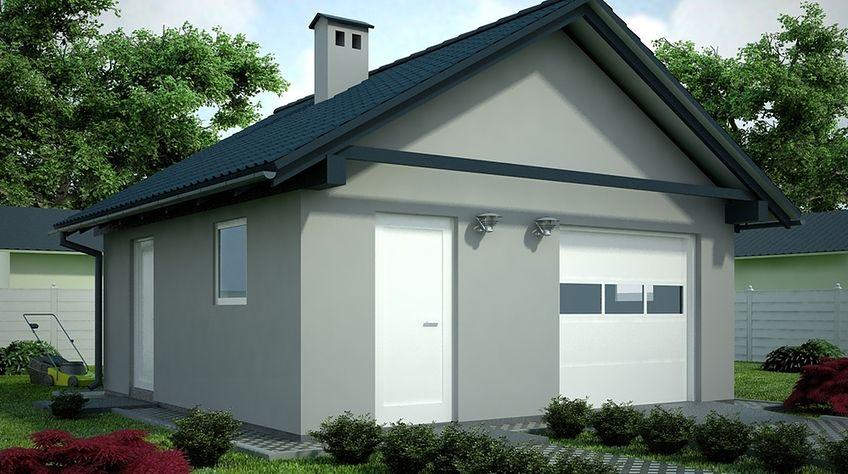 Zdjęcie 1 projektu G67 - Budynek garażowo - gospodarczy PRA1081