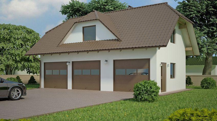 Zdjęcie 1 projektu G98 - Budynek garażowo - gospodarczy PRA1112